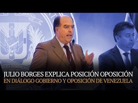 Julio Borges explica posición Oposición en Diálogo Gobierno y Oposición de Venezuela 6/2/18