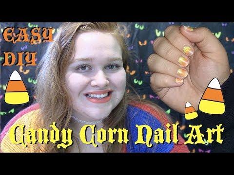 Candy Corn Gradient Nails   Short Nail Friendly   Nail Art Tutorial thumbnail
