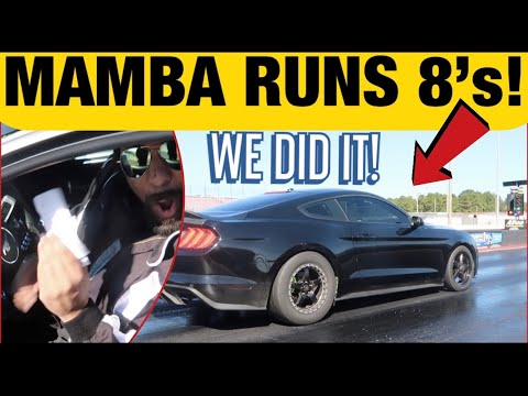 REACTING To MAMBA's 1st 8 Second 1/4 Mile!*Stock Block 2018 Mustang Does 8s