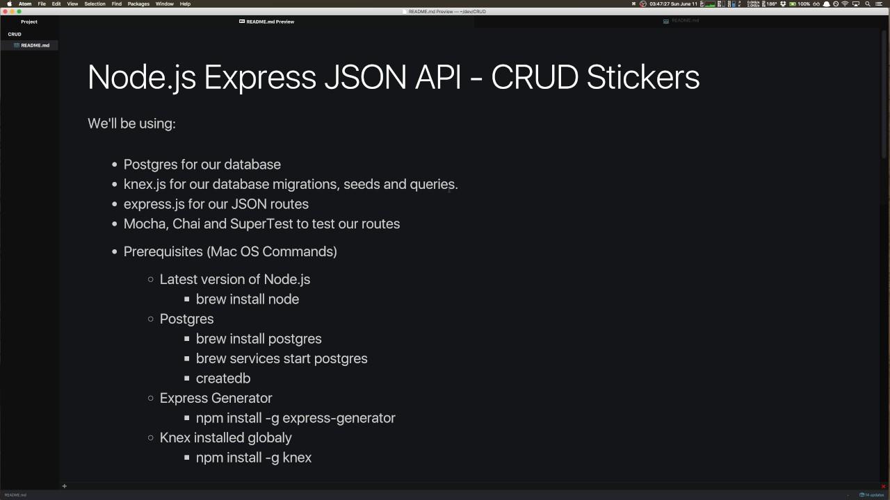 CRUD API Part 01