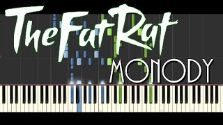 Synthesia [piano tutorial] | The Fat Rat - Monody (feat. Laura Brehm)