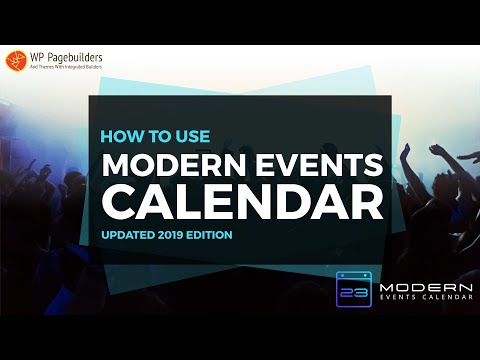 How to Setup Modern Events Calendar Plugin (2019 Edition)