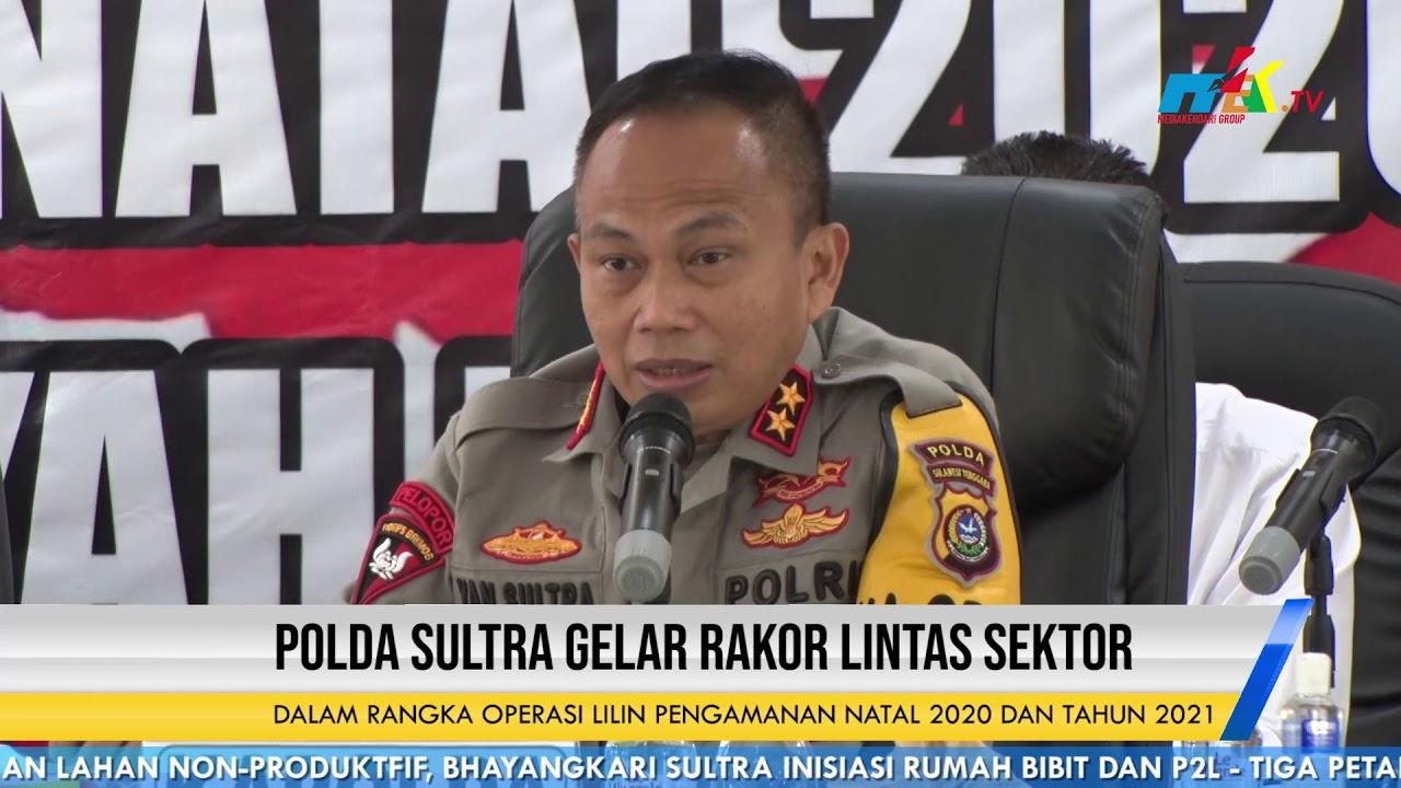 Polda Sultra Gelar Rakor Lintas Sektor Dalam Rangka Operasi Lilin Pengamanan Natal