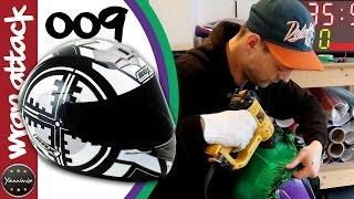 BOX-Helm Gewickelt Lila und Grün | Wrap Attack-009