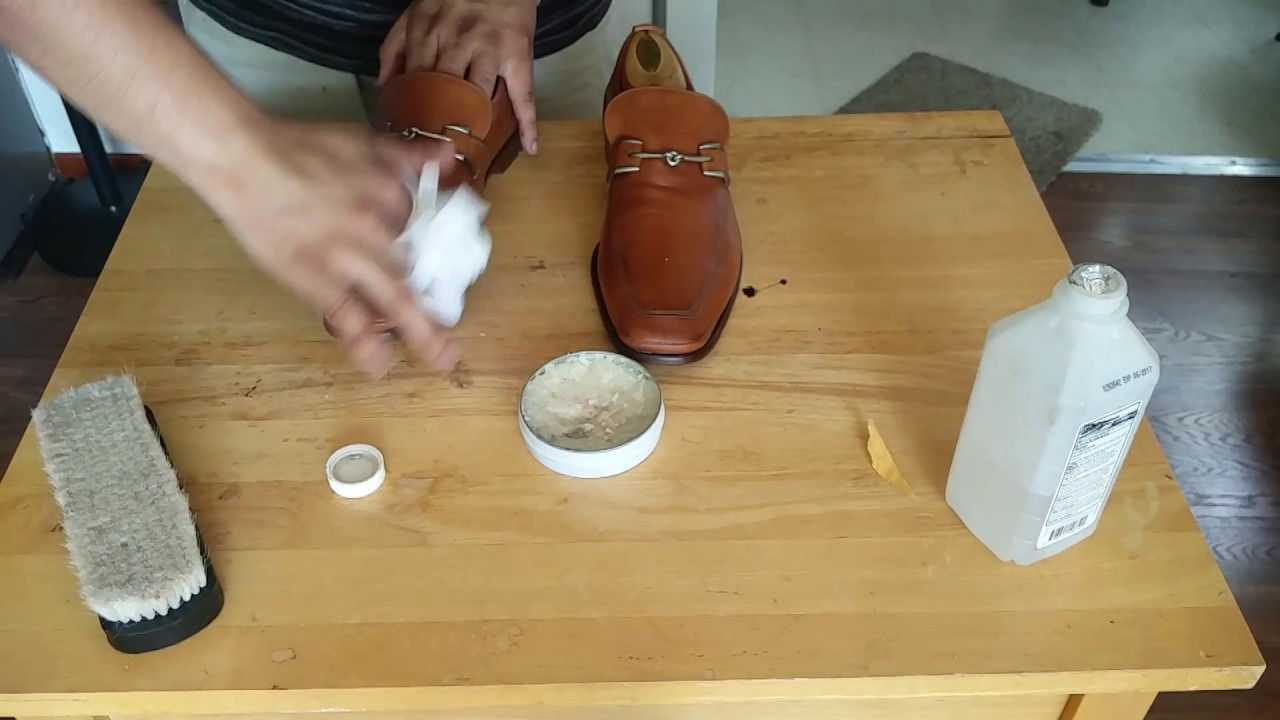 Cole Haan horsebit loafers cleaning