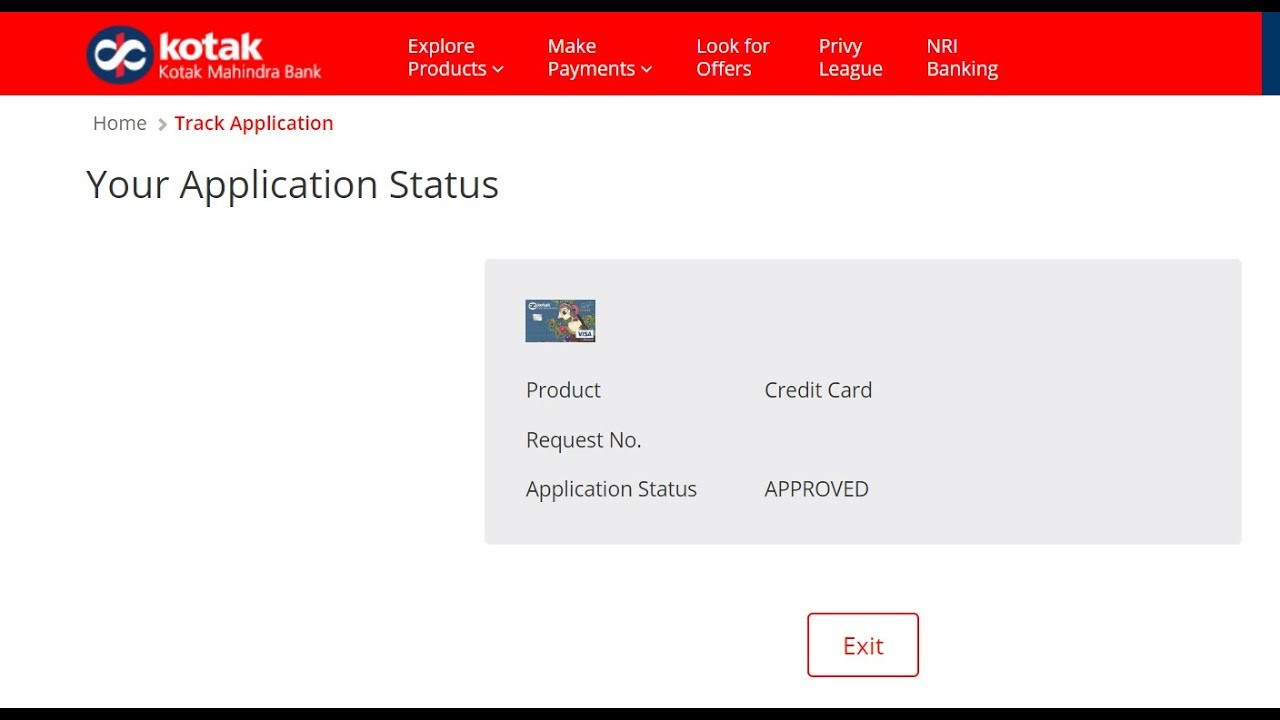 kotak mahindra bank job application status