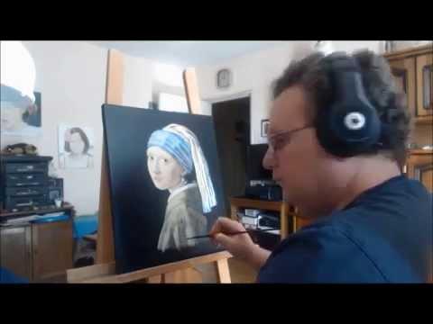"Vermeer 1665 ""La jeune fille à la perle"""