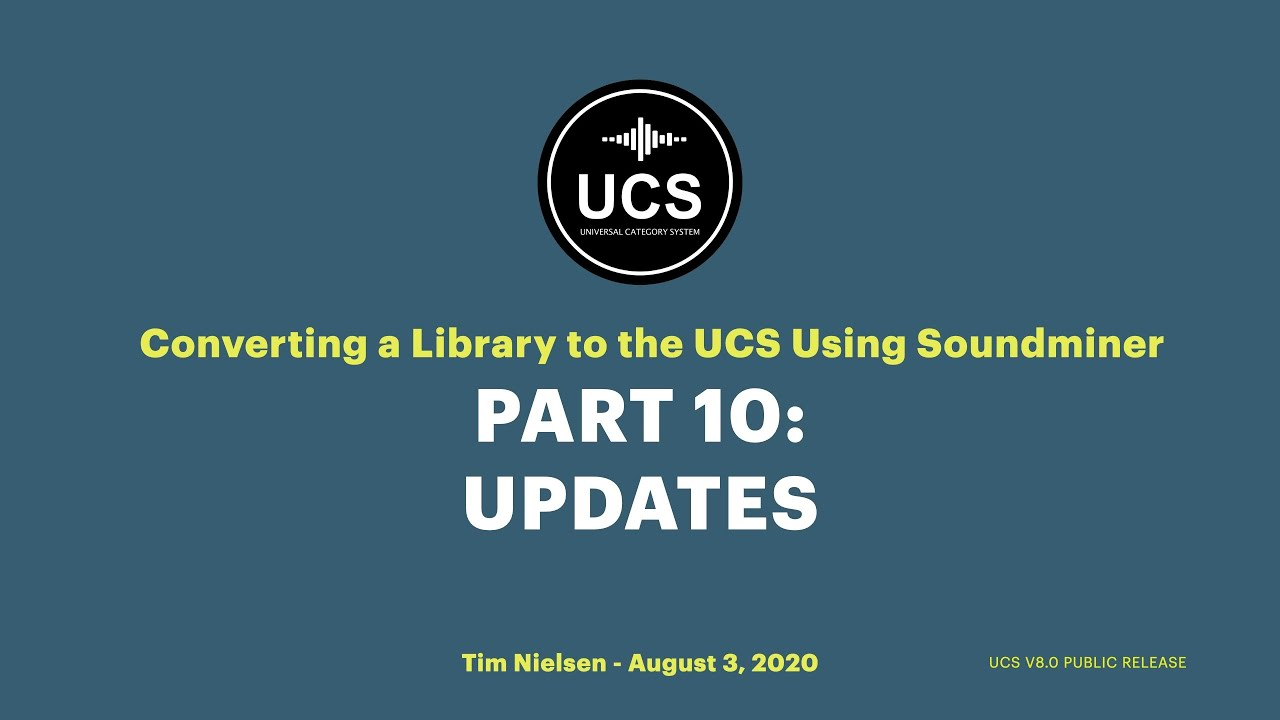 Using Soundminer to Build a UCS Library - 10. A Few Updates