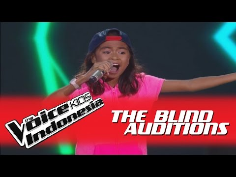 "Angela ""Bilang Saja"" I The Blind Auditions I The Voice Kids Indonesia GlobalTV 2016"