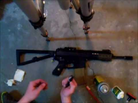 How to Clean a Gas Airsoft M4 type Gun.
