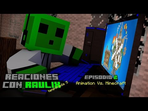 Animation vs. Minecraft (Alan Becker) Reaccion en Español