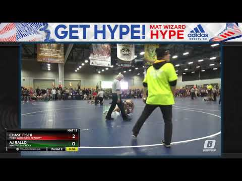 High School (9th - 10th Grade) 106 Aj Rallo Whitfield School Vs Chase Fiser Moen Wrestling Academy