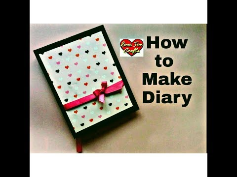 How to Make Diary | DIY Paper Crafts