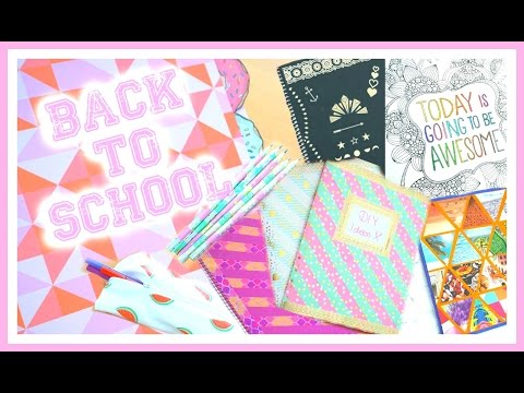 BACK TO SCHOOL DIY (Hefte, Etui, Stifte,..) ⎮weeklyMel
