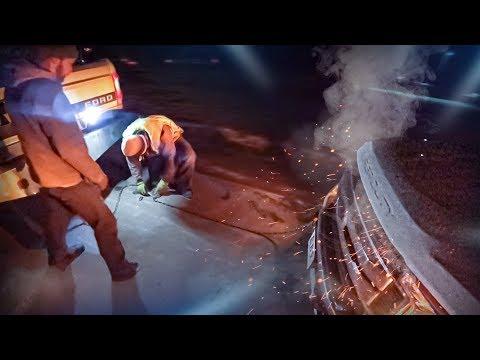 Ночная Эвакуация Ford F - 350 С Грузом. Трасса. США.