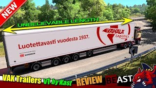 "ETS2 (1.31) | trailer mod ""VAK Trailers by Kast v1.0"" - review"