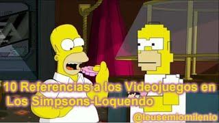 10 Referencias a los Videojuegos en los Simpson-Loquendo