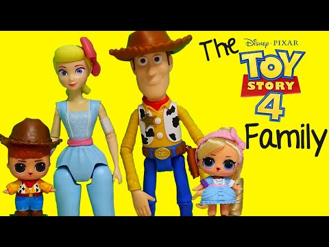 LOL Dolls Families ! The Toy Story 4 Family & Uncle Buzz ! Toys and Dolls Fun Play for Kids | SWTAD