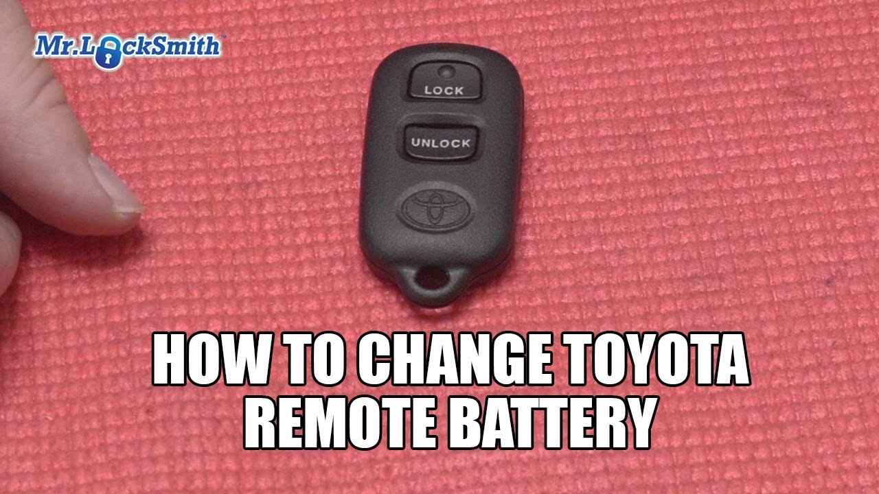 How To Change Toyota Remote Battery Mr Locksmith Video Youtube