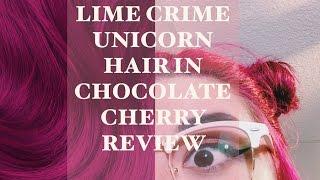 Lime Crime Unicorn Hair in Chocolate Cherry | Honest Lime Crime Hair Dye Review