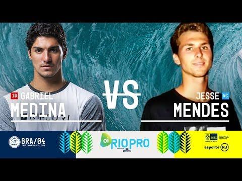 Gabriel Medina vs. Jesse Mendes - Round Two, Heat 3 - Oi Rio Pro 2017