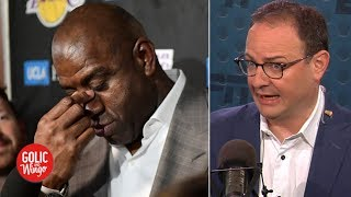 Magic Johnson was not good at his job - Woj | Golic and Wingo