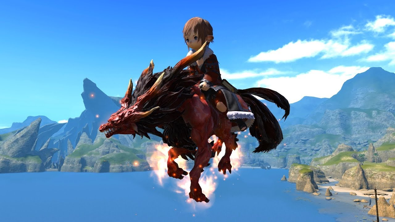 Final Fantasy XIV Managarm Mount YouTube