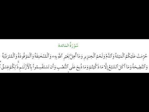 SURAH AL-MAEDA #AYAT 3: 28th October 2020