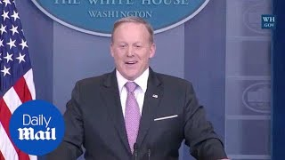 'Don't make me make the podium move!' Spicer refers to SNL - Daily Mail