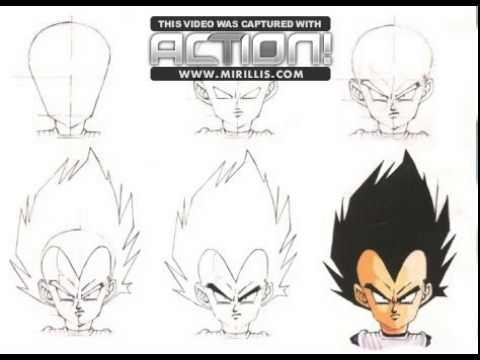 comment dessiner vegeta etape par etape youtube. Black Bedroom Furniture Sets. Home Design Ideas