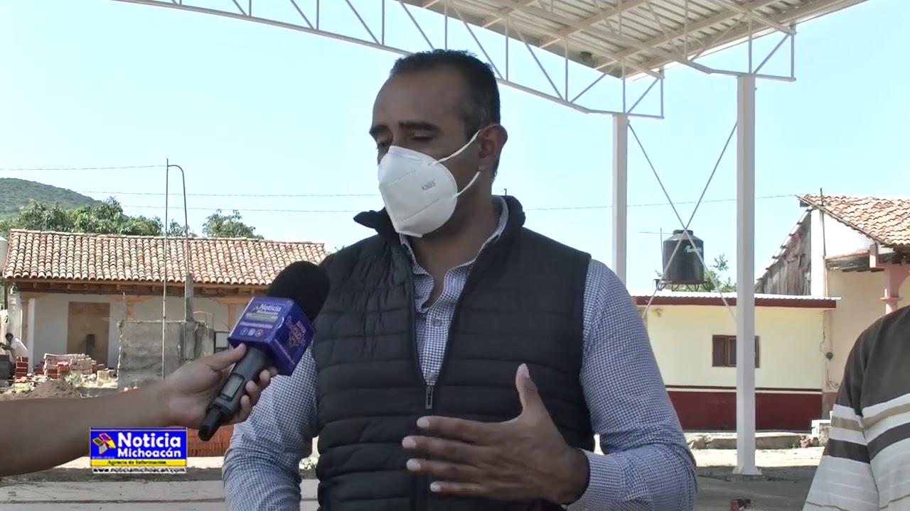 Construcción de techumbre beneficiará habitantes de Villa Mendoza: Cuauhtémoc Vega Robledo