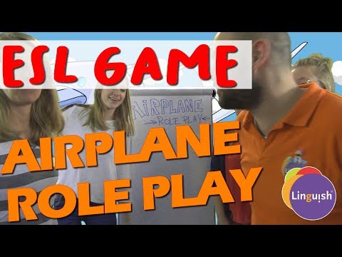 Linguish ESL Games // Airplane Role Play // LT373