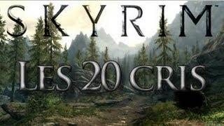 Skyrim-Les 20 cris