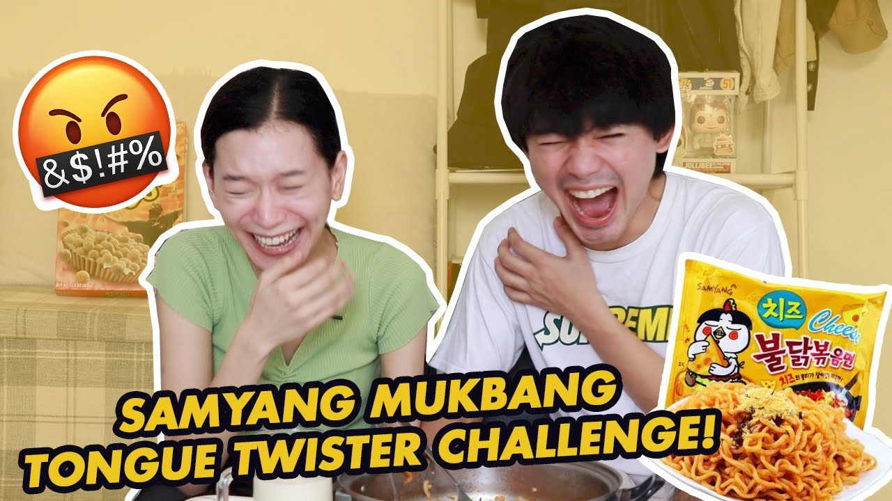 SAMYANG MUKBANG TONGUE TWISTER CHALLENGE (BF VS GF) | WE DUET