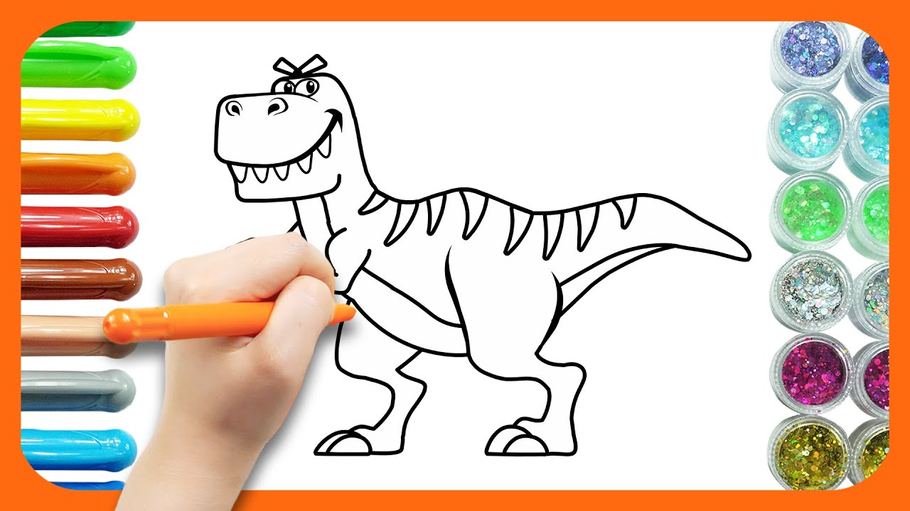 티라노사우루스 그리기 | 공룡의 왕 티라노사우루스 | 힘쎄고 강한 티라노 | 그리기놀이 | 공룡그리기놀이 | 공룡놀이 | 티디키즈★지니키즈