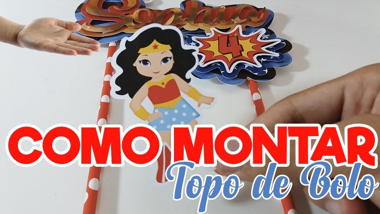 TUTORIAL - Como montar Topo de Bolo - YouTube 1f82fe1abc
