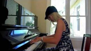 Lara plays Simple and Clean/Hikari on piano