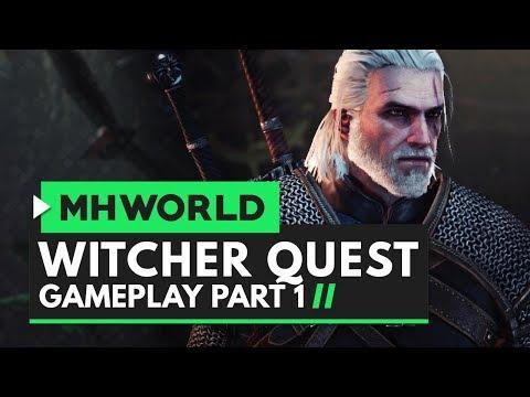 monster-hunter-world- -witcher-quest-gameplay-part-1