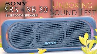Sony SRS XB-30 Bluetooth Speaker Unboxing   Sound Test.