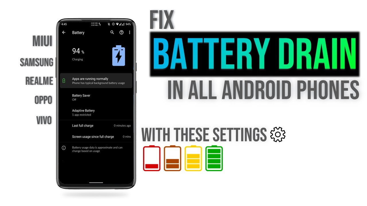 How To Fix Battery Drain Issues in Android Phones   Problems with Solutions   Best Battery Backup