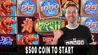 😵 MASSIVE COIN on a $12.50 Bet Bonus! 🐲 Mighty CASH Brings Mighty WIN