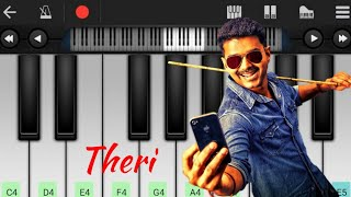 Download Hindi Video Songs - Theri Theme |  tutorial | BGM | Piano notes | My Piano