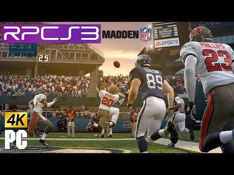 PS3 Madden NFL 10 in 4k (4480x2520) on PC RPCS3 emulator