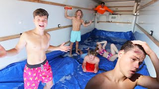 Slip N Slide In MOVING TRUCK! *KNOCKED OUT*