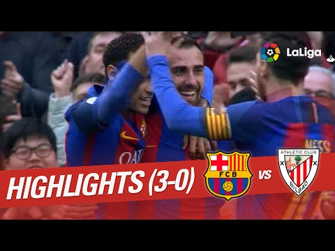 Resumen de FC Barcelona vs Athletic Club (3-0)