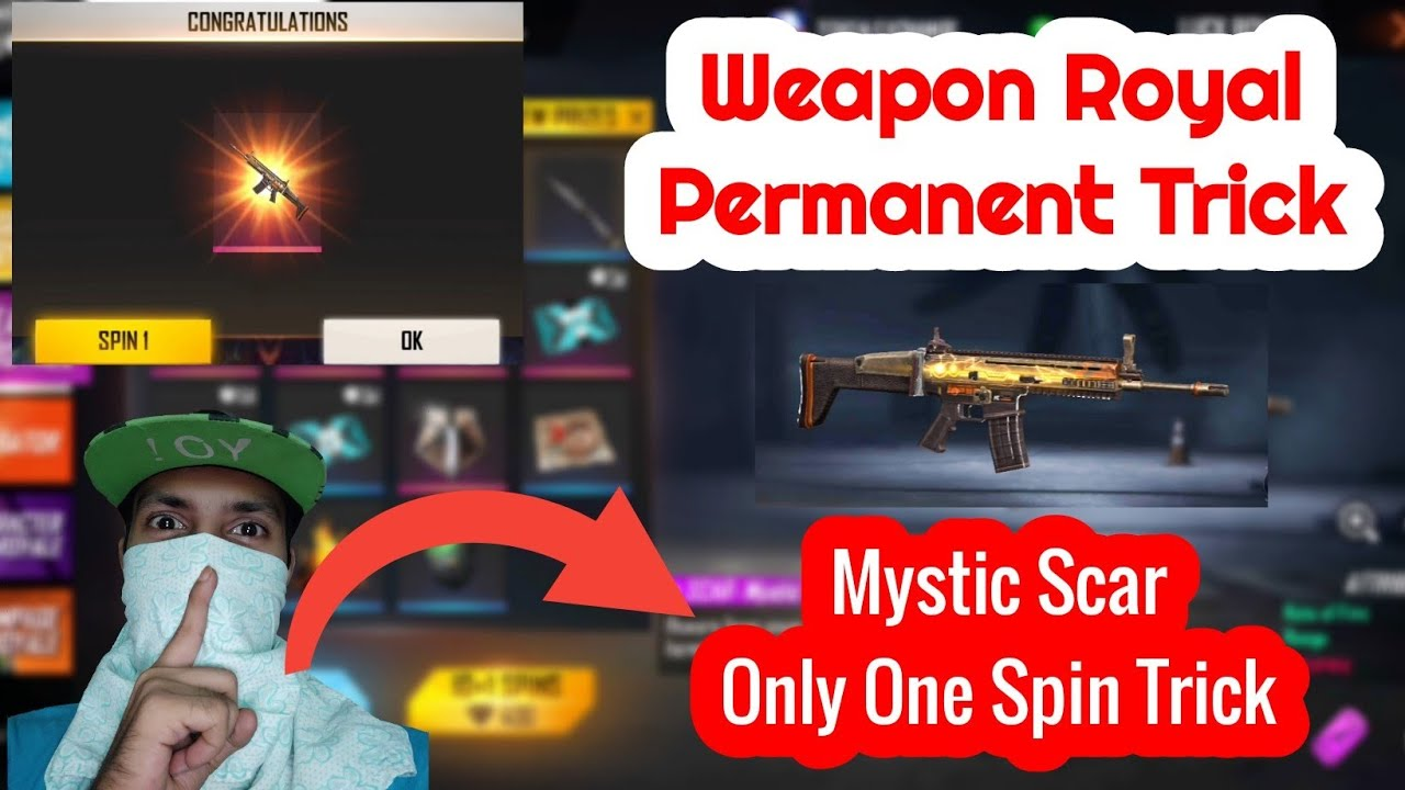 #FreeFire Weapon Royal Trick   Only One Spin Trick   💯% Working Trick   #BGarmy