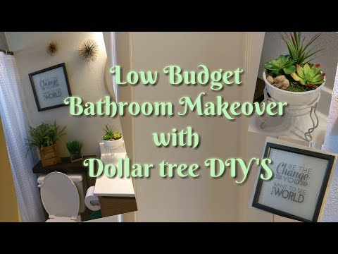 Bathroom Makeover with Dollar tree DIY's 2017