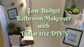 Bathroom Makeover with Dollar tree DIY's 2017