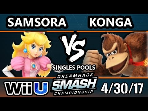 DHA 2017 SSB4  Samsora Peach Vs. Konga Donkey Kong Smash 4  Smash Wii U