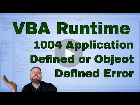 VBA run-time error '1004' Application-defined or Object-defined error